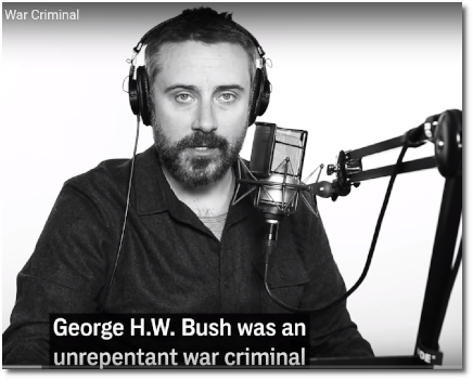 Jeremy Scahill says George HW Bush was an unrepentant war criminal (9 Dec 2018)