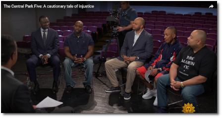Central Park Five on CBS Sunday Morning (12 May 2019)