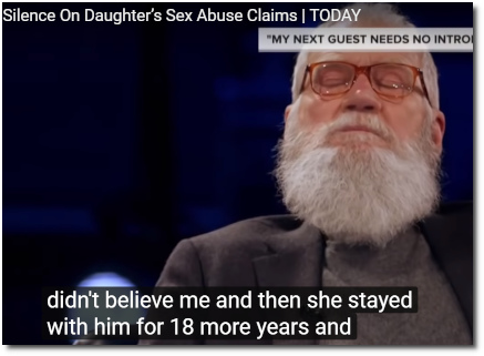 Ellen DeGeneres talks with David Letterman about her experiences of sexual abuse at the hands of her stepfather (31 May 2019)