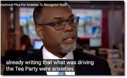 Eddie Glaude says social scientists knew back in 2009 that the Tea Party was really about demographic shifts, and not about economic populism (7 Aug 2019)