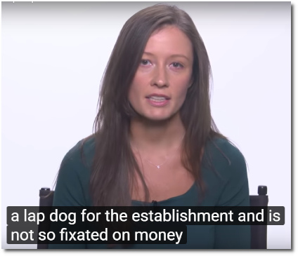 Emma says that Pelosi is a lapdog for the Establishment who is fixated on money instead of what is good for America (12 Sept 2019)