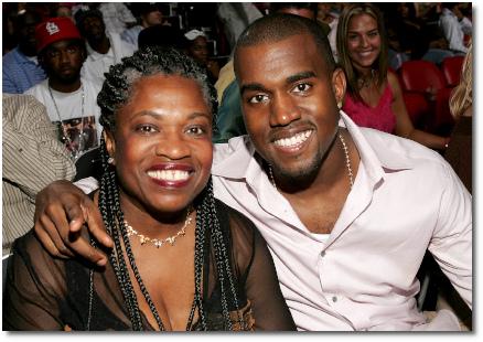 Kanye and his mom