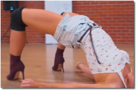 Sexy dancer with great, strong legs Brinn Nicole choreography American Woman by Lenny Kravitz (27 July 2019)