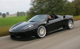 Black Ferrari F30 on the road