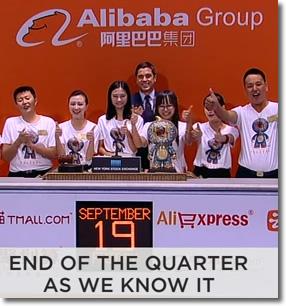 Alibaba Goes Public NYSE Sept 19, 2014