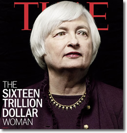 Janet Yellen on the cover of Time Magazine