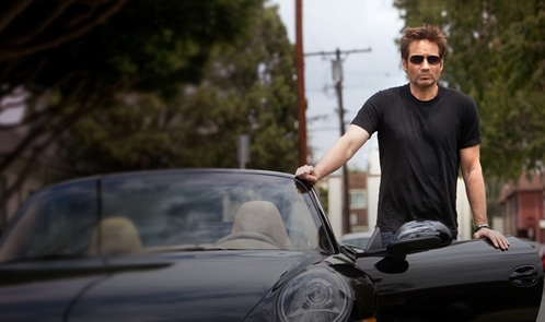 The talented writer/parent Hank Moody drives a Porsche 911 around the streets of Los Angeles in Californication