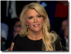 Megyn Kelly asks the Donald an uncomfortable question at the Republican Presidential candidate debate on August 6, 2015