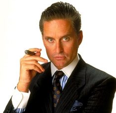 Michael Douglas as Gordon Gekko in Wall Street (1987)