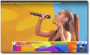 Ariana sings live on Good Morning America in New York on May 20, 2016