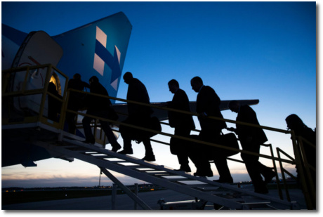 Hillary's overpaid consultants getting on Hillary's well-funded campaign airplane to go home in defeat