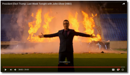 John Oliver blows up 2016