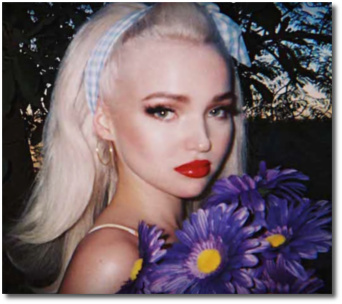 Dove Cameron with child-like features