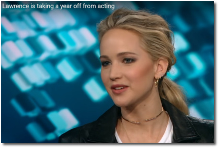 Jlaw taking off a year from acting