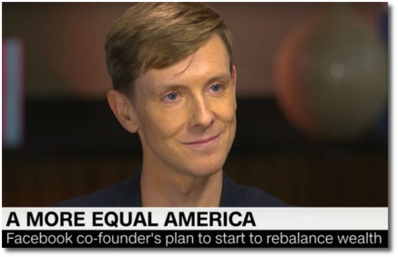 Facebook co-founder Chris Hughes with Fareed (6 May 2018)