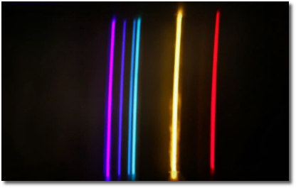Visual evidence of quantum leap from light emitted from heated gases